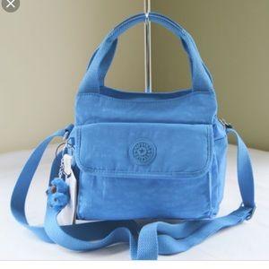 KIPLING blue fairfax small handbag crossbody